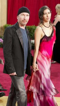 The Edge and Morleigh at the 75th Annual Academy Awards.