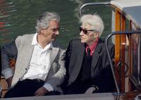 Pierre Arditi and Alain Resnais at the photocall to promote the film