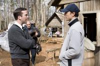Lucas Black and Dean Zanuck on the set of
