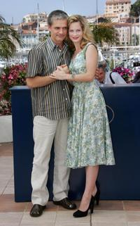 Konstantin Lavronenko and Maria Bonnevie at the photocall of