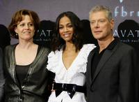 Sigourney Weaver, Zoe Saldana and Stephen Lang at the photocall of