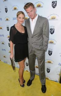 Nicki Aycox and Dash Mihok at the opening night of Feel Good Film Festival.