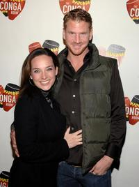 Dash Mihok and Guest at the grand opening of Conga Room.