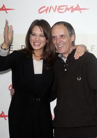 Asia Argento and Dario Argento at the photocall of