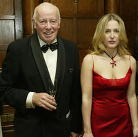 Richard Wilson and Gillian Anderson at the Sheraton Park Lane Hotel in England.