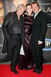 Director Paul Verhoeven, Carice van Houten and Sebastian Koch at the premiere of