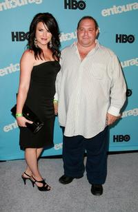 Louis Lombardi and Guest at the premiere of