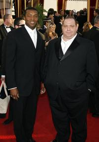Roger R. Cross and Louis Lombardi at the 64th Annual Golden Globe Awards.