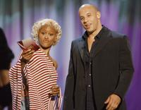 Vin Diesel and Eve at the 2002 MTV Movie Awards.