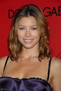 Jessica Biel at the announcement of the charity collaboration between Dolce & Gabbana and actress Penelope Cruz to benefit The Art of Elysium at the Chateau Marmont.