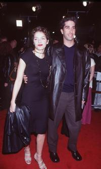 Mili Avital and David Schwimmer at the premiere of