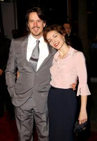 Charles Randolph and Mili Avital at the premiere of