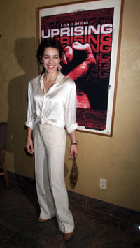 Mili Avital at the cocktail reception preceding the New York premiere screening of