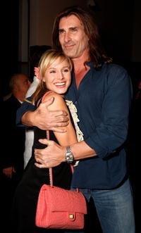 Kristen Bell and Fabio at the grand opening of