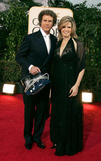 Will Ferrell and wife Viveca Paulin at the 64th Annual Golden Globe Awards in Beverly Hills.