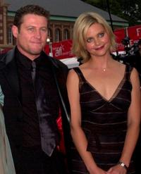 Peter Phelps and Sophie Lee at the Emirates AFI Awards 2000.