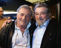 Peter Falk and Serge Sauvion at the at Europe 1 private radio for the release of his book