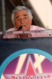 Peter Falk attend a ceremony honoring Rogers with a star on the Hollywood Walk of Fame.