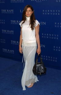 Rhona Mitra at the Fall 2004 Lanvin Fashion Show in Beverly Hills benefiting the Rape Foundation.