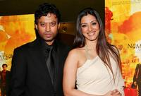 Irfan Khan and Tabu at the premiere of
