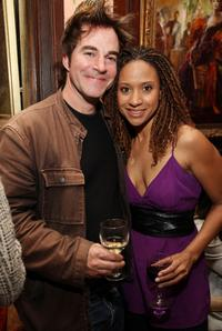 Roger Bart and Tracie Thoms at the 24 Hour Musicals after party.