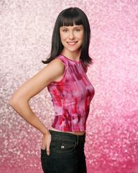 Susan Egan on the set of the television series