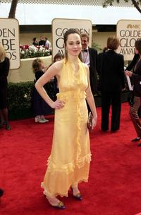 Frances O'Connor at the 58th Annual Golden Globe Awards.