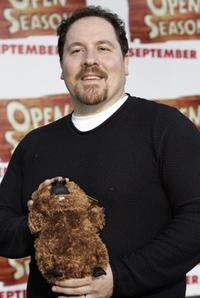 Jon Favreau at the premiere of the animated feature film