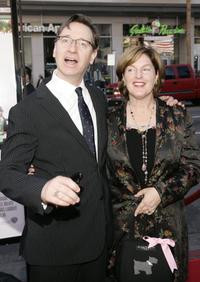 Paul Feig and his wife at the premiere of the ''Unaccompanied Minors''.