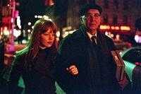 Lauren Ambrose as Heather and Frank Langella as Leonard Schiller in