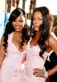 Meagan Good and Golden Brooks at the 39th NAACP Image Awards.