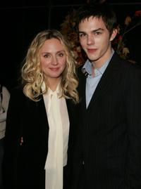 Hope Davis and Nicholas Hoult at the after party of the premiere of