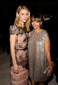 Claire Danes and Rashida Jones at the 17th Annual Elton John AIDS Foundation's Academy Award Viewing Party.