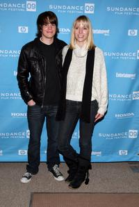 Johnny Simmons and Shana Feste at the screening of