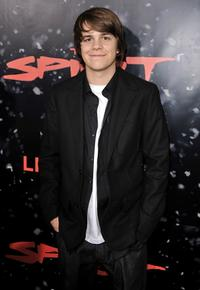 Johnny Simmons at the Los Angeles premiere of