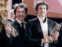 Francois Cluzet and Guillaume Canet at the 32nd Nuit des Cesar ceremony, France's top movie Awards.
