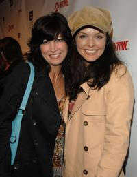 Elizabeth Keener and Dina Meyer at the season 5 premiere party of