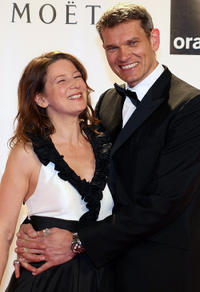 Sabine and Gotz Otto at the Vienna Filmball 2011 in Austria.