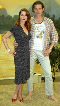 Esther Schweins and Gotz Otto at the photocall of