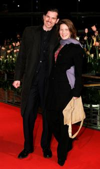 Gotz Otto and Sabine Louys at the premiere of