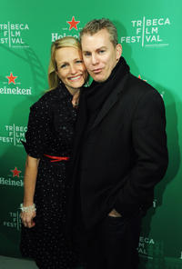Producer Kristine Fine and Travis Fine at the Heineken Wrap party during the 2012 Tribeca Film Festival in New York.