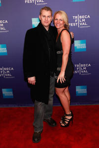 Travis Fine and producer Kristine Fine at the premiere of