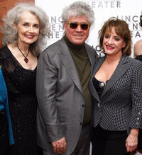 Mary Beth Peil, Director Pedro Almodovar and Patti LuPone at the after party of the opening night of