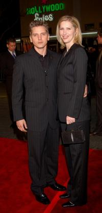 Barry Pepper and Cindy at the premiere of