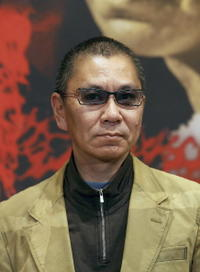 Takashi Miike at the promotion of
