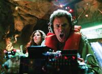 Anna Friel as Holly and Will Ferrell as Dr. Rick Marshall in