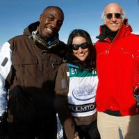 J.B. Smoove, Julia Louis Dreyfus and Larry David at the Juma Entertainment's 17th Annual Deer Valley Celebrity Skifest.