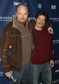 Louis C.K. and Sherwood Kiraly at the premiere of