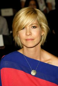 Jenna Elfman at the Whitley Kros Fall 2008 fashion show during the Mercedes-Benz Fashion Week.