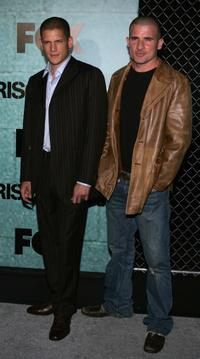 Wentworth Miller and Dominic Purcell at the premiere party of